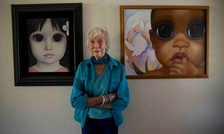 Margaret Keane at home today