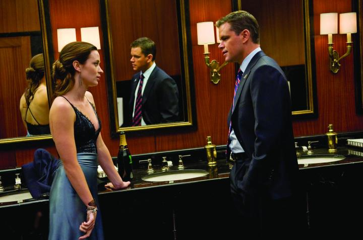 MATT DAMON stars in the thriller The Adjustment Bureau as a man who glimpses the future Fate has planned for him and realizes he wants something else. To get it, he must pursue the only woman he's ever loved (EMILY BLUNT) across, under and through the streets of modern-day New York.